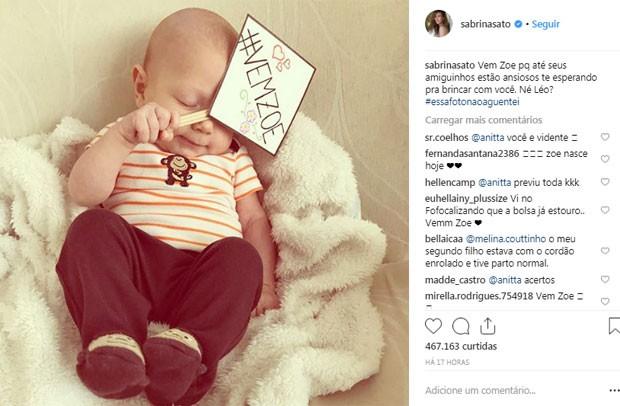 Post de Sabrina Sato em que ocorreu a interação com Anitta (Foto: Reprodução / Instagram)