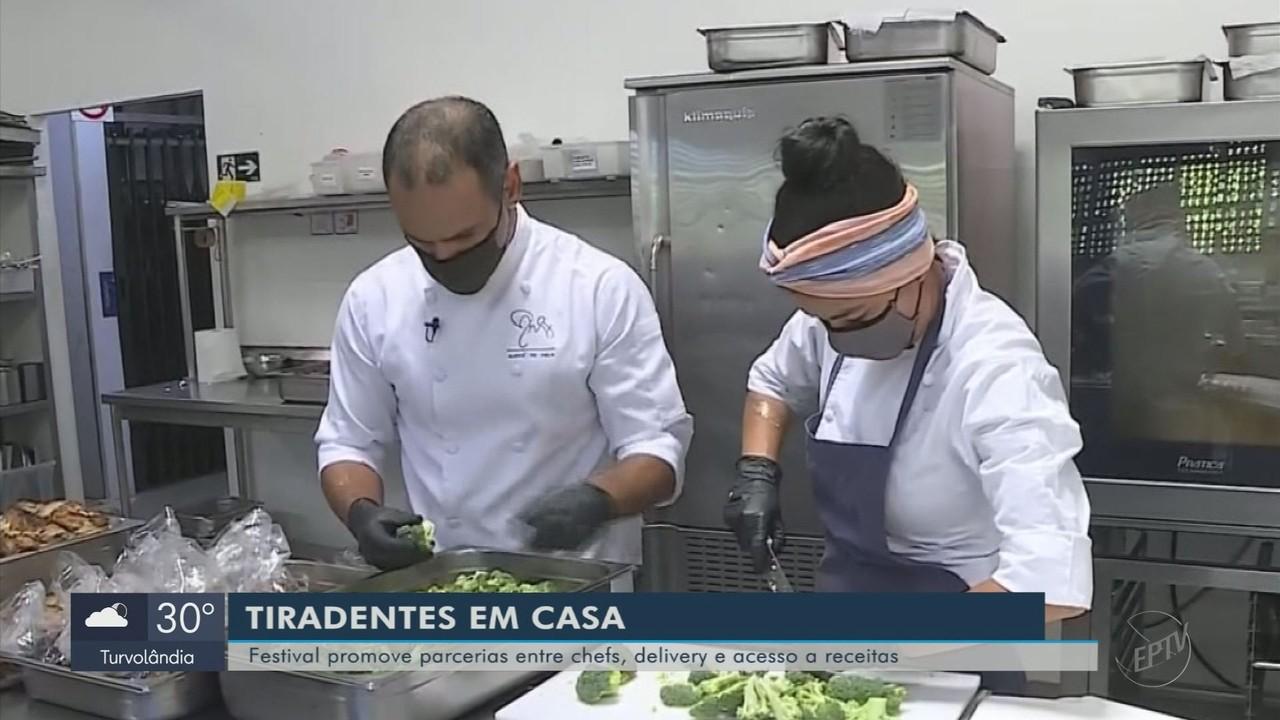 Festival promove parcerias entre chefs, delivery e acesso a receitas em Tiradentes