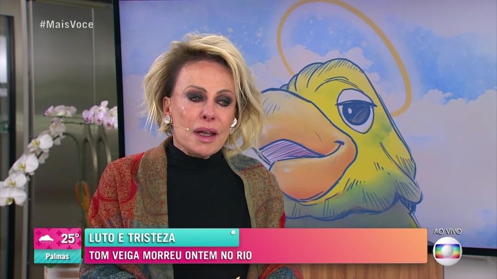 Ana Maria Braga apresentou o Mais Você ao vivo nesta segunda-feira (2) para homenagear o amigo morto na véspera — Foto: Reprodução/TV Globo