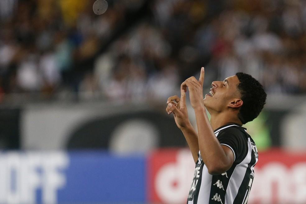Luis Henrique comemora primeiro gol como profissional do Botafogo  — Foto: Botafogo F.R.