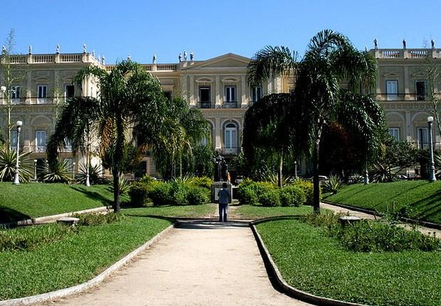 Museu Nacional, mantido pela Universidade Federal do Rio de Janeiro (UFRJ) e sediado na Quinta da Boa Vista, na zona norte do Rio (Foto: Marcus Guimarães/Wikipedia)