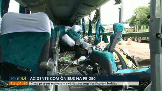 Motorista de caminhão-caçamba envolvido em acidente com cinco mortos estava bêbado, diz PRE
