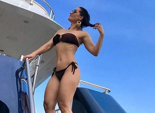Mônica Carvalho mostra corpão aos 46 anos (Foto: Reprodução/Instagram)