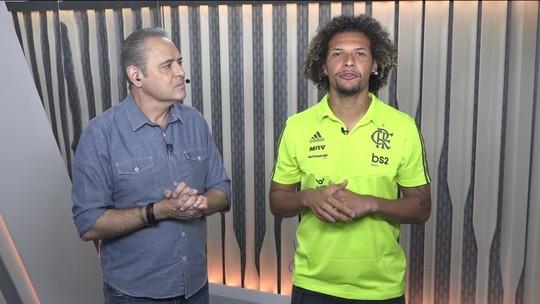 Arão realiza sonho, vive um dia de narrador de futebol e ganha dicas de Luís Roberto