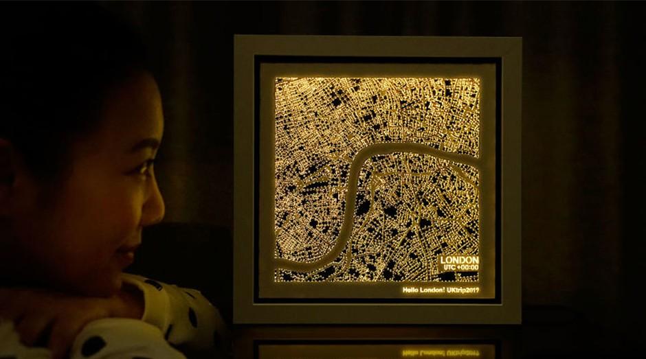 As figuras forma inspiradas na visão que temos quando sobrevoamos uma cidade durante a noite. (Foto: Divulgação)
