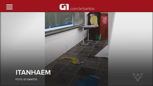 Funcionários de escola em Itanhaém pagam consertos do próprio bolso