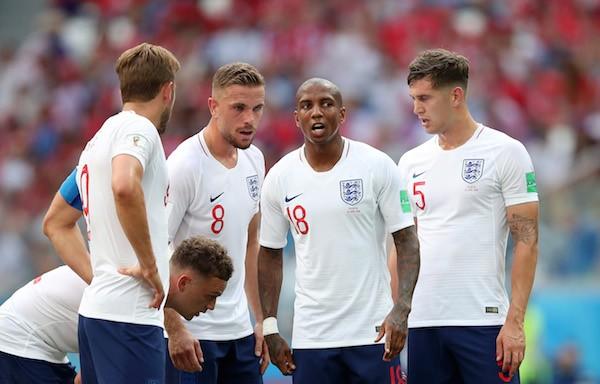Os jogadores da seleção da Inglaterra na Copa do Mundo (Foto: Getty Images)