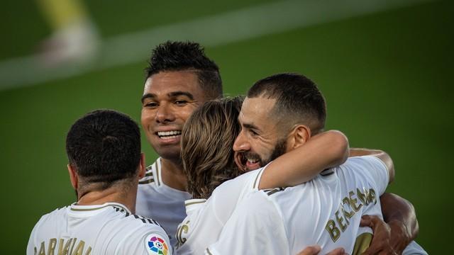 Comemoração de Benzema - Real Madrid x Villarreal
