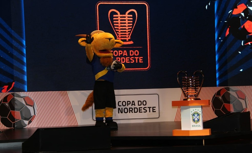 Zé Cabrito, mascote da Copa do Nordeste — Foto: Denison Roma/Globoesporte.com