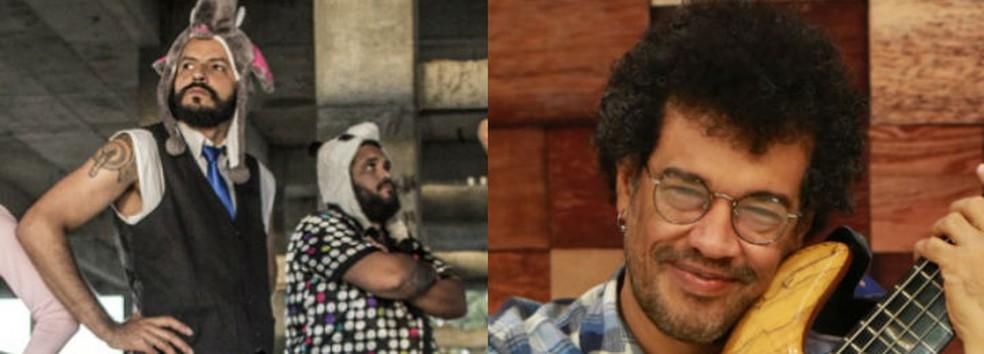 Banda Dona Iracema e Luciano Calazans se apresentam em Salvador — Foto: Arte G1
