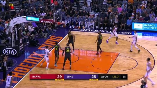 Melhores momentos: Phoenix Suns 128 x 112 Atlanta Hawks, pela NBA