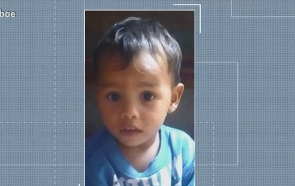 Bebê de um ano e oito meses morreu após beber água em Araci, na Bahia — Foto: Reprodução/ TV Subaé