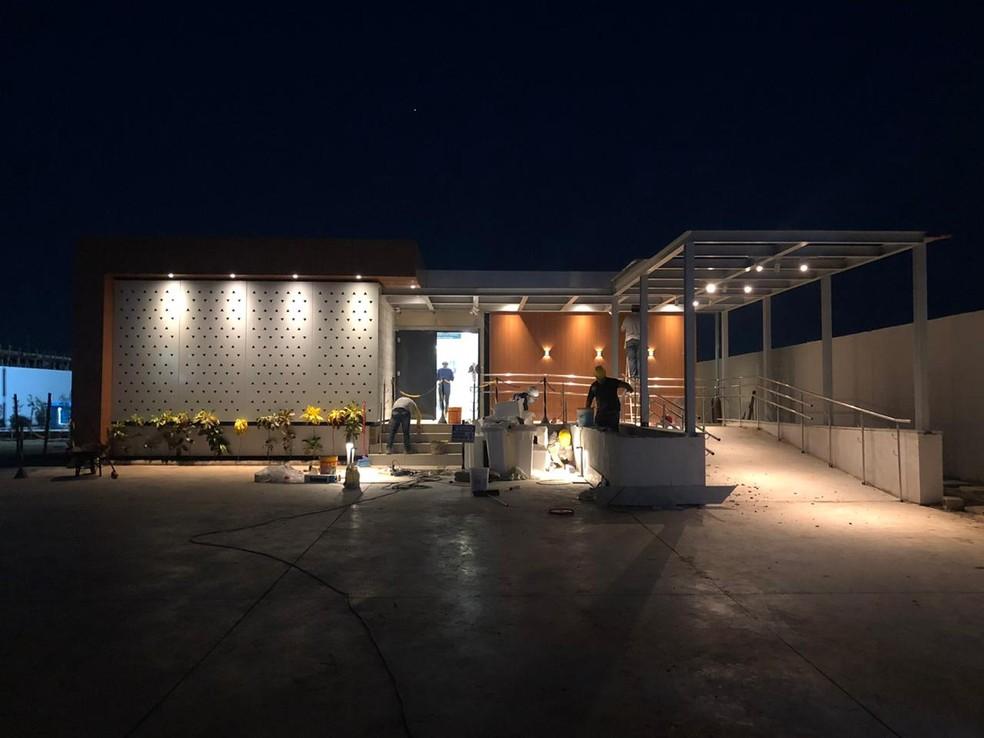 Construção de nova ala para tratamento da Covid-19 no Cemetron em Porto Velho  — Foto: Casa4/ Brasil ao Cubo