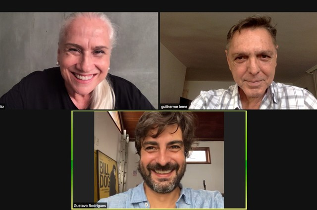 Vera Holtz, Guilherme Leme e Gustavo Rodrigues (Foto: Arquivo pessoal)