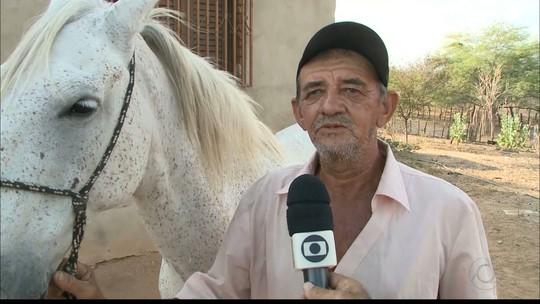 Cavalo que se despediu de vaqueiro morto na PB mudou comportamento, diz irmão
