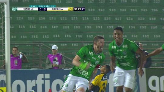 Sai Michel Douglas, entra trio: Guarani compensa jejum de artilheiro com gols inéditos