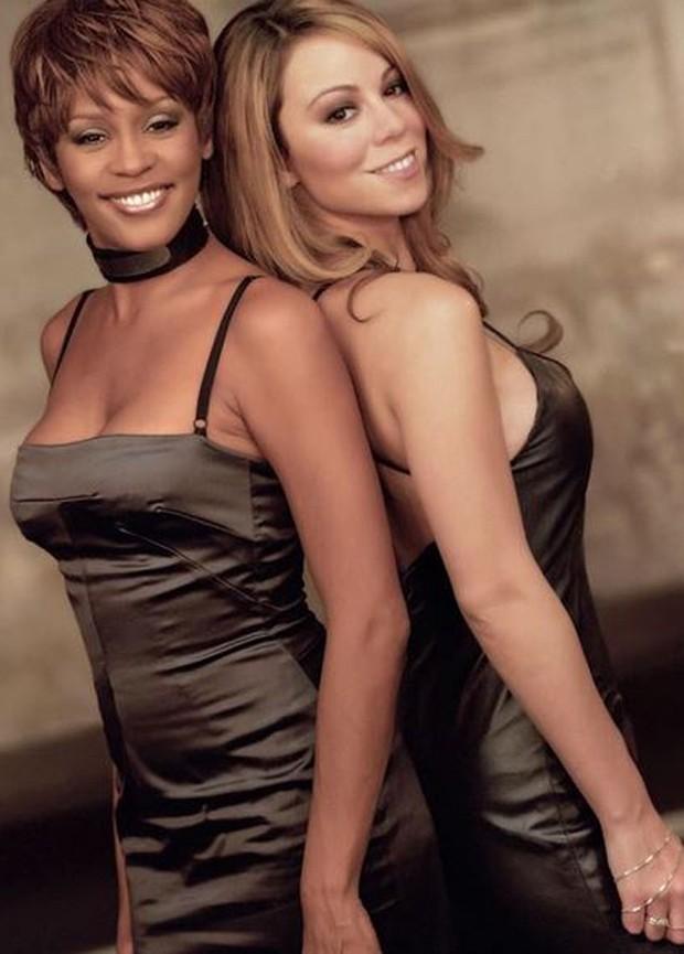 Whitney Houston completaria 54 anos hoje e é lembrada por Mariah Carey  (Foto: Reprodução/Instagram)
