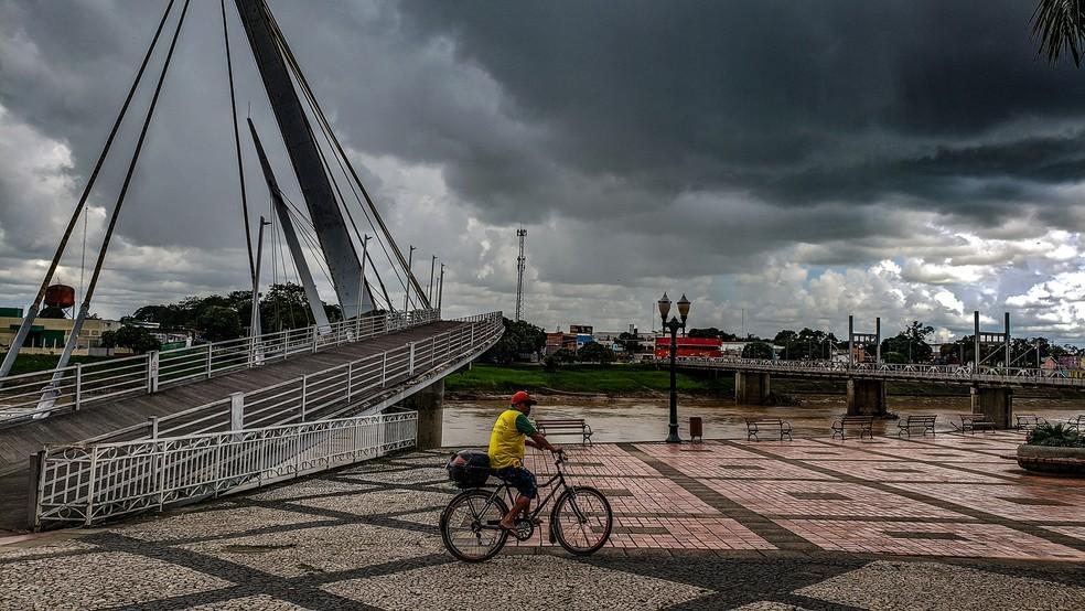 Sipam prevê segunda-feira (3) com possibilidade de pancadas de chuvas em todo o Acre — Foto: Vicent Diaz/Arquivo pessoal