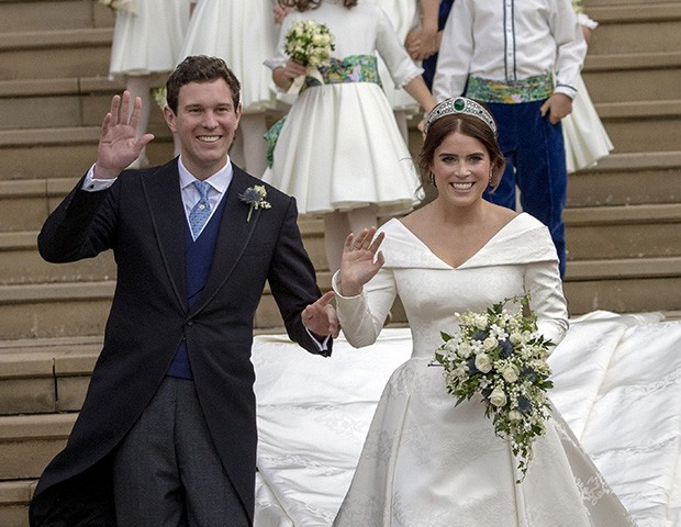 A princesa Eugenie com o marido, Jack Brooksbank (Foto: Getty Images)