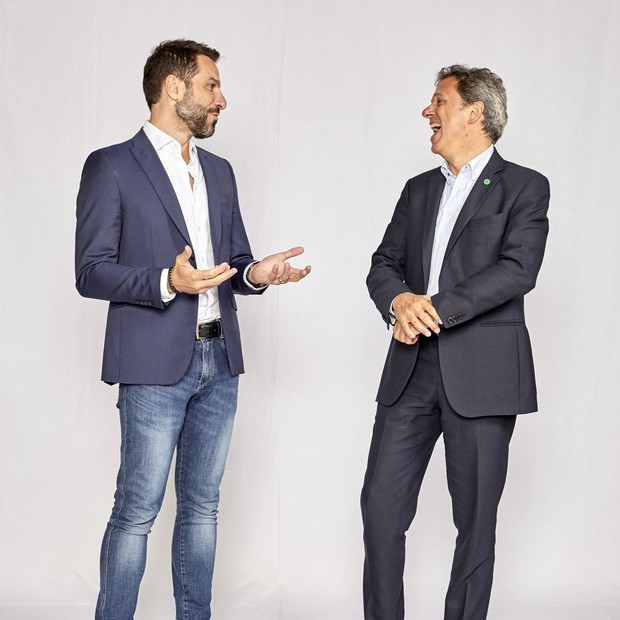 Daniel Rossi, da Capitale Energia, e Nicola Cotugno, da Enel (Foto: Arthur Nobre/Época NEGÓCIOS)