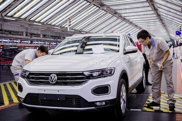 Fábrica da Volkswagen na China (Foto: Divulgação)