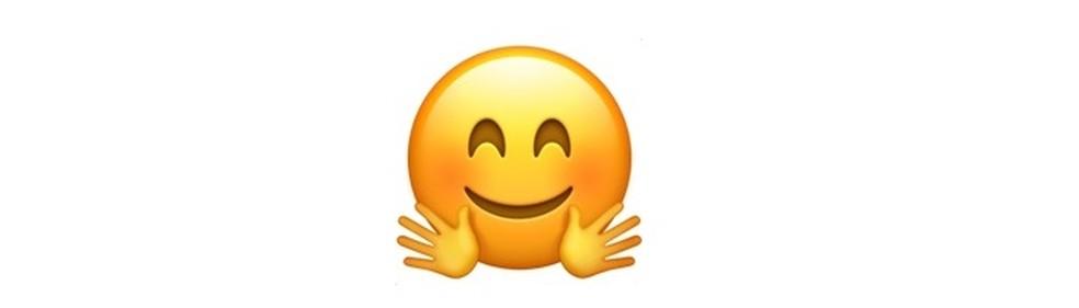 O emoji do abraço — Foto: Reprodução/TechTudo
