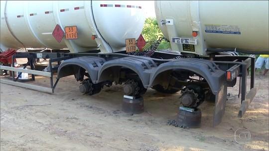 Quadrilha especializada em roubar pneus de caminhões é presa