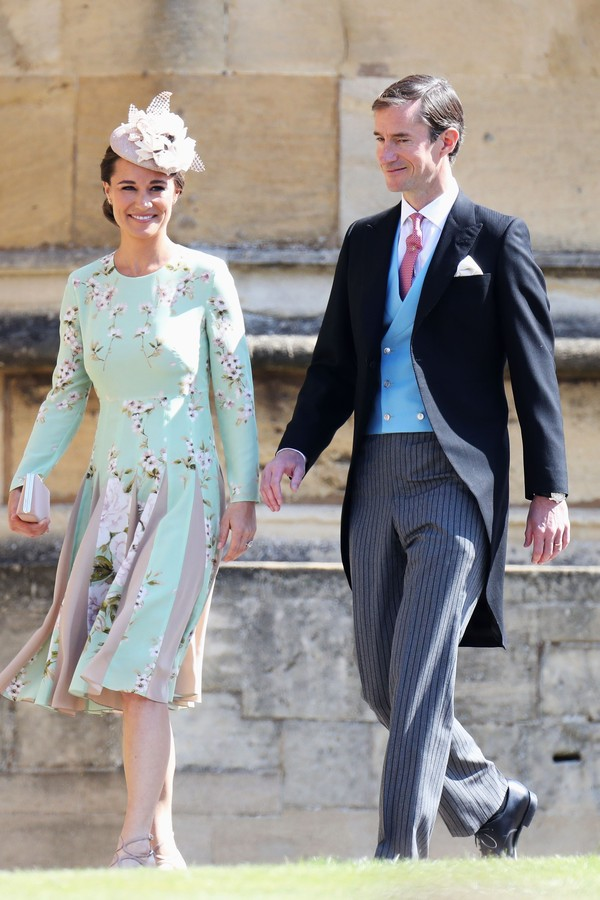 WINDSOR, ENGLAND - MAY 19:  Pippa Middleton and James Matthews arrive at the wedding of Prince Harry to Ms Meghan Markle at St George's Chapel, Windsor Castle on May 19, 2018 in Windsor, England.  (Photo by Chris Jackson/Getty Images) (Foto: Getty Images)