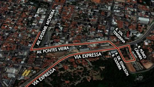 Trecho da Av. Raul Barbosa é interditado nesta quarta-feira