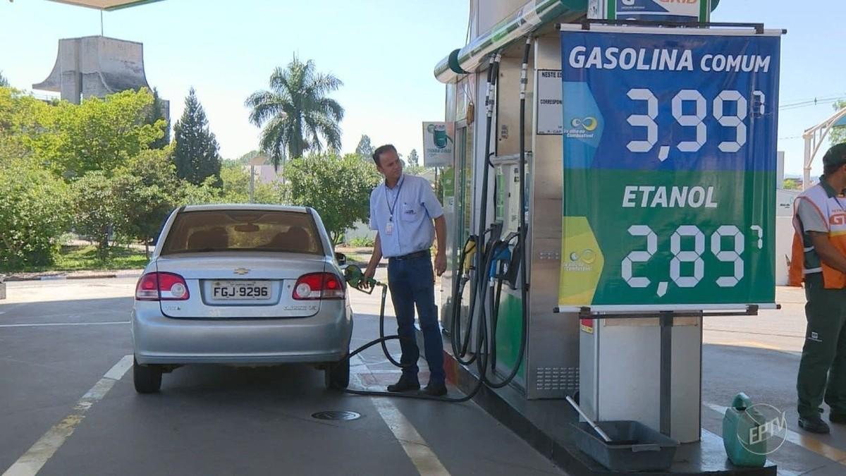 Preço do litro da gasolina alcança os R$ 3,99 em Campinas, maior valor desde julho de 2001
