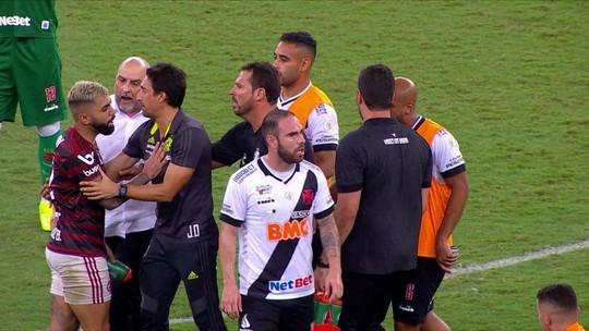 Flamengo vai ao STJD contra gerente do Vasco que agrediu Gabigol após clássico