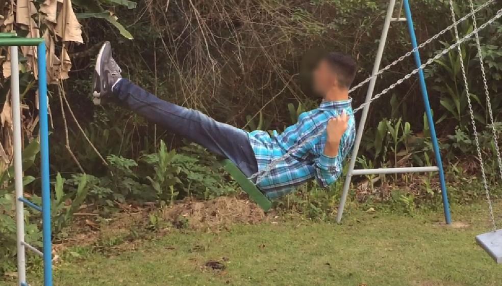 Adolescente está internado desde 13 de junho em uma clínica em Mairiporã (Foto: Glauco Araújo/G1)