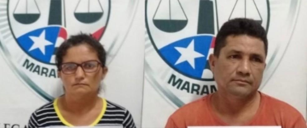Rosinete Lima Neves e Edmar Cavalcante Neves foram presos por suspeita de violentar sexualmente a filha em Governador Newton Bello (MA) — Foto: Divulgação/Polícia Civil