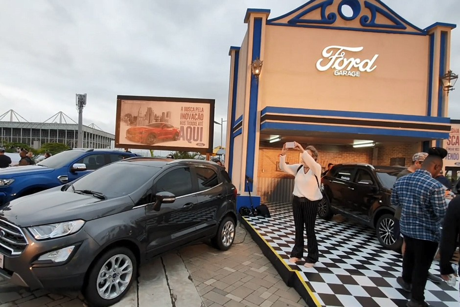 Visitantes podiam conhecer os modelos no Ford Garage (Foto: Ford)