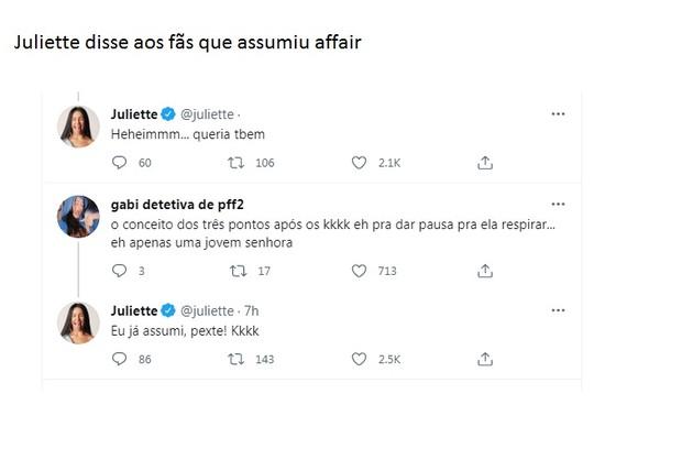 Juliette responde fãs em meio a especulações de affair com Luan Santana (Foto: Reprodução)