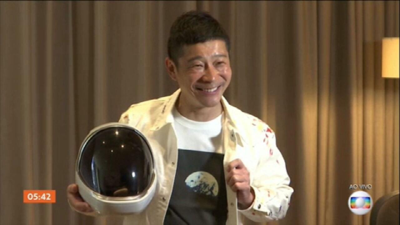 Bilionário japonês busca voluntários para viagem particular ao redor da Lua