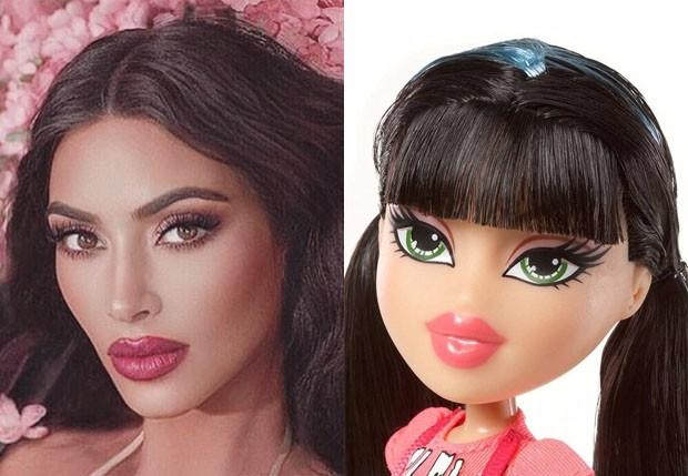 Kim Kardashian é comparada a uma boneca Bratz (Foto: Reprodução/Instagram)