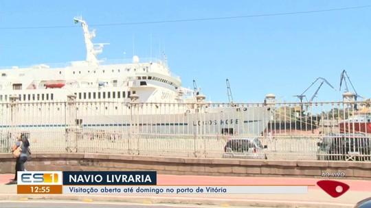 Navio livraria está com visitação aberta até domingo no Porto de Vitória