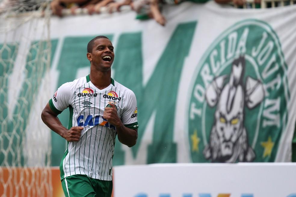 Pela Chapecoense, Bruno Rangel fez o gol do título e foi o artilheiro do Catarinense em 2016 (Foto: FuturaPress)