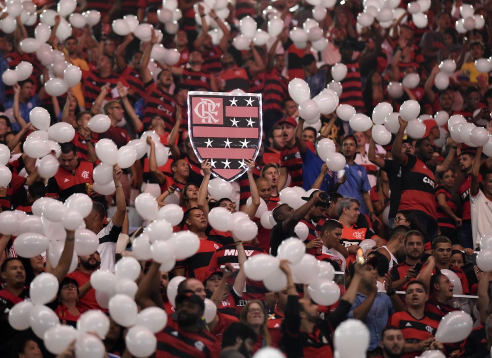 Homenagem feito aos garotos do Ninho no Fla-Flu — Foto: André Durão/GloboEsporte.com