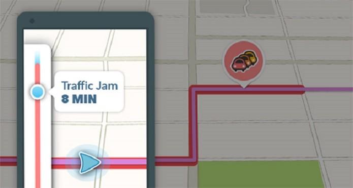Atualização d Waze permite saber quanto tempo ficaremos parados no trânsito (Foto: Divulgação)
