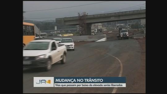 Trânsito próximo ao Trevo do Contorno Viário, em Chapecó, sofre alterações; entenda