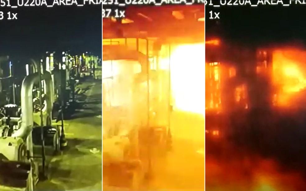 Área afetada pela explosão na refinaria Replan, em Paulínia. — Foto: Arte/G1