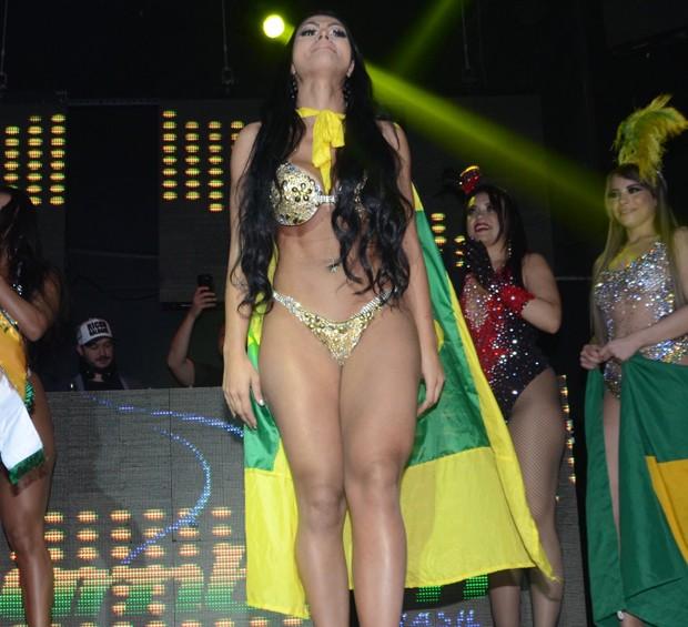 Ellen Santana é eleita Miss Bumbum 2018 (Foto: Eduardo Martins/AgNews)