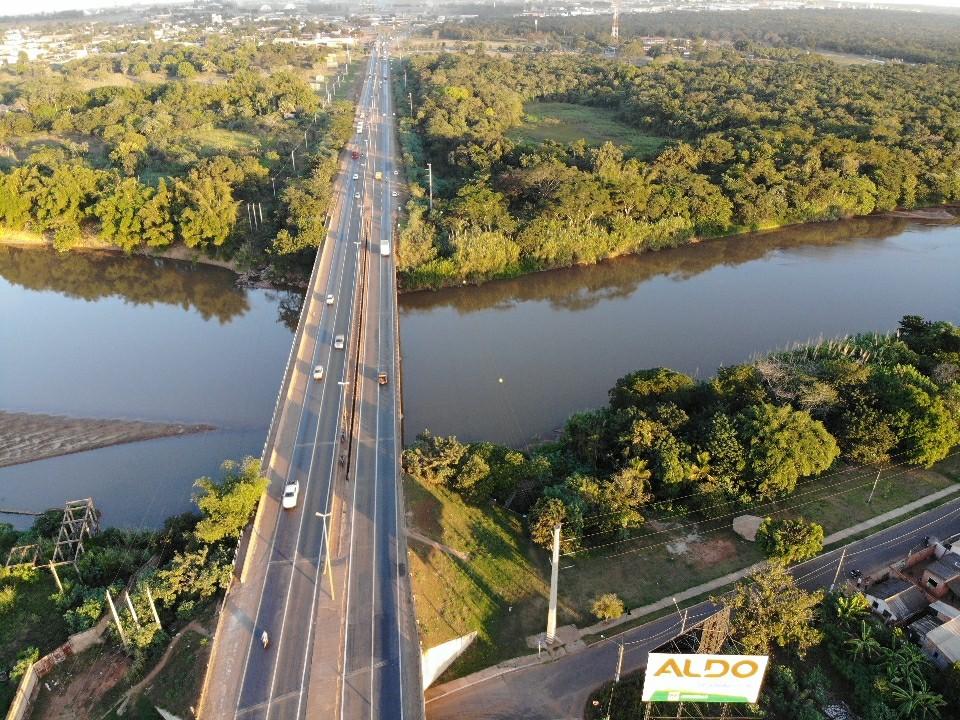 Ponte na BR-364 é interditada por período indeterminado para manutenção de pilar em MT