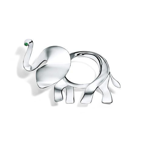 Broche da coleção de elefantes da Tiffany (Foto: Divulgação)