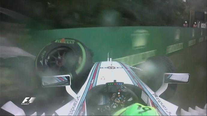 Felipe Massa bateu no treino classificatório para o GP da Hungria (Foto: Reprodução)