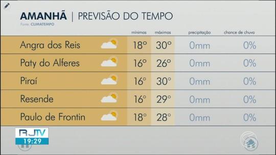 Domingo será de tempo firme no Sul do Rio