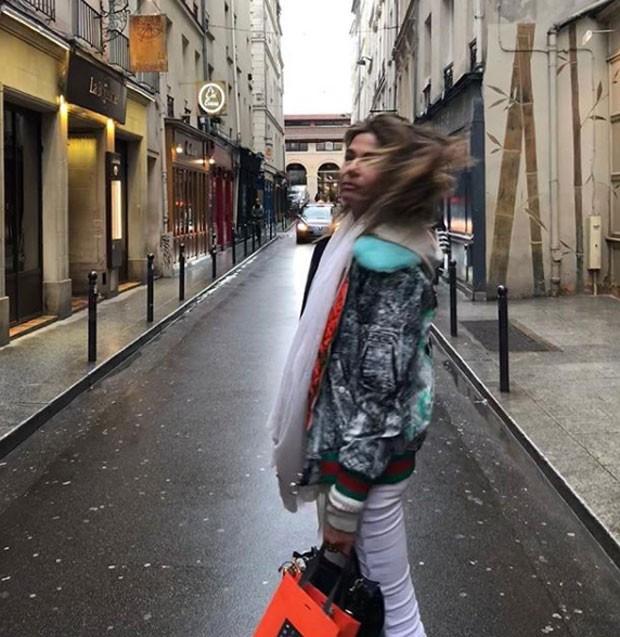 Luciana Gimenez em Paris (Foto: Reprodução)