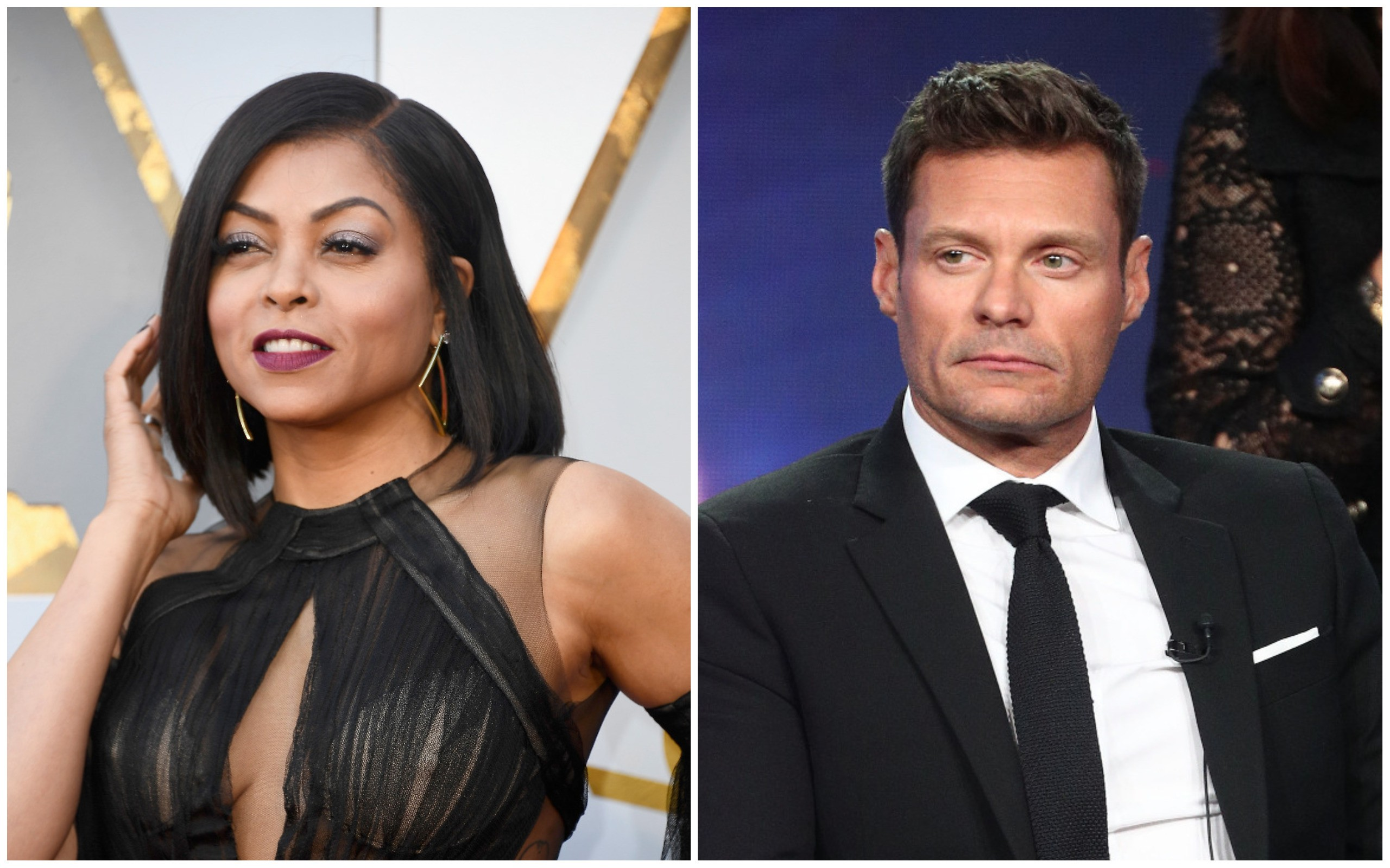 Taraji P. Henson e Ryan Seacrest (Foto: Getty Images)